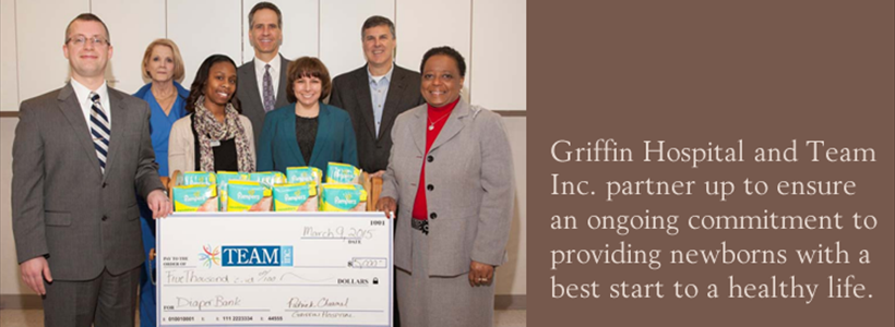 Griffin Hospital Donates $5,000 to Support TEAM Diaper Bank
