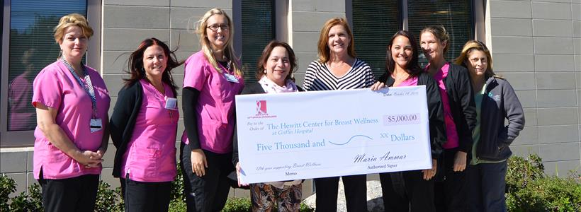Hope Lives raises $5,000 for Hewitt Center for Breast Wellness