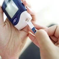 Monitoring for diabetes through a blood test