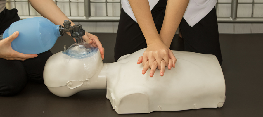 CPR training at Griffin Hospital